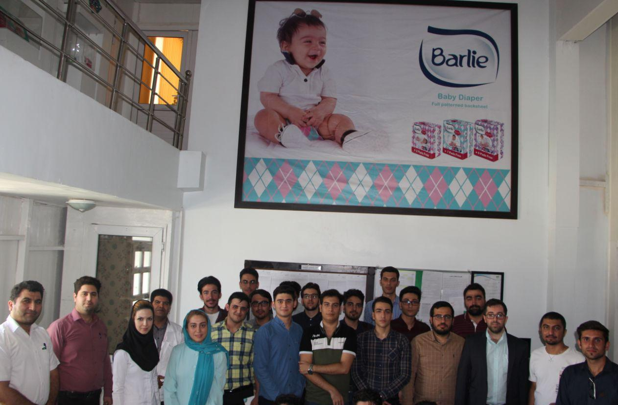 بازدید دانشجویان دانشگاه آزاد کرج از کارخانه صنایع سلولزی ماریناسان