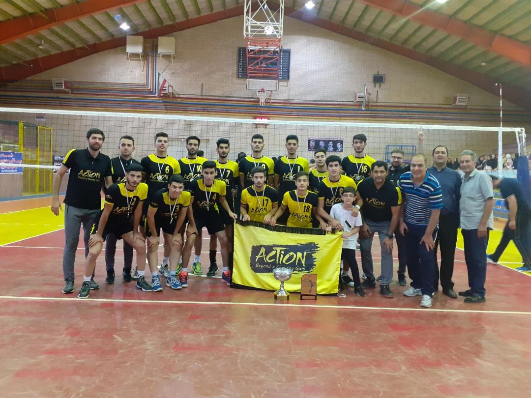 نایب قهرمانی تیم والیبال جوانان استان البرز با حمایت برند اکشن