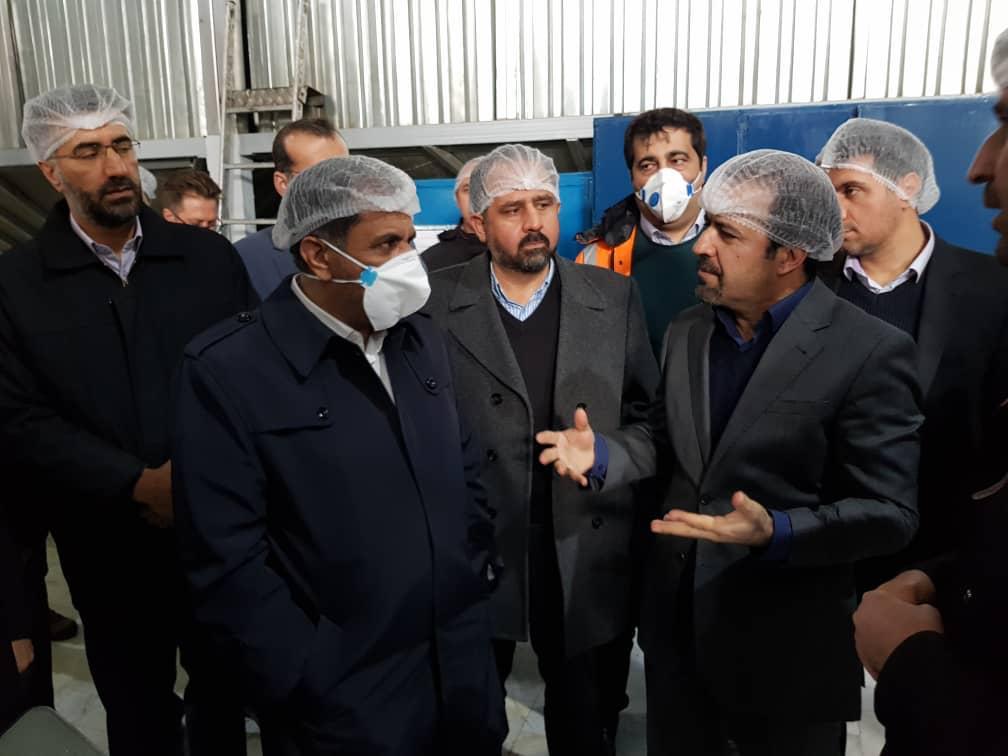 بازدید استاندار قزوین از کارخانه صنعت غذایی کورش در تاکستان